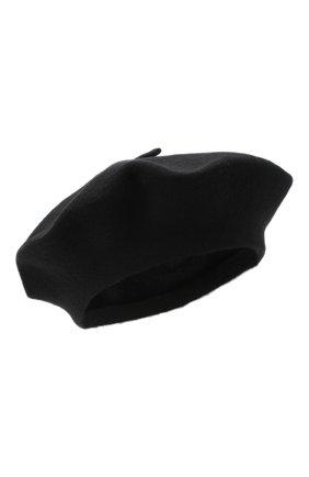 Женский шерстяной берет BILANCIONI черного цвета, арт. 4905CM | Фото 1