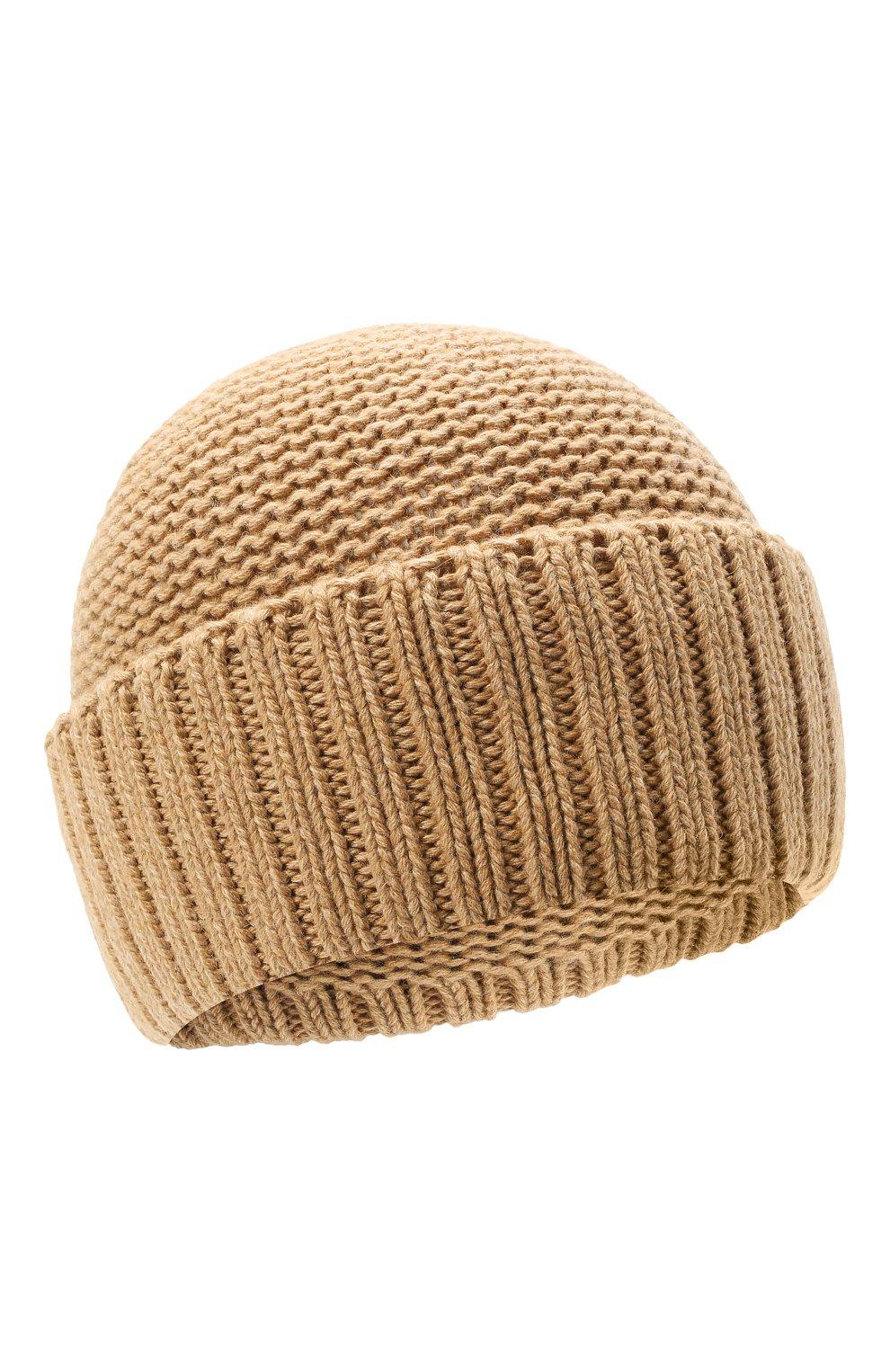 Женская шапка BILANCIONI бежевого цвета, арт. 4901CM   Фото 1 (Материал: Текстиль, Шерсть, Вискоза)