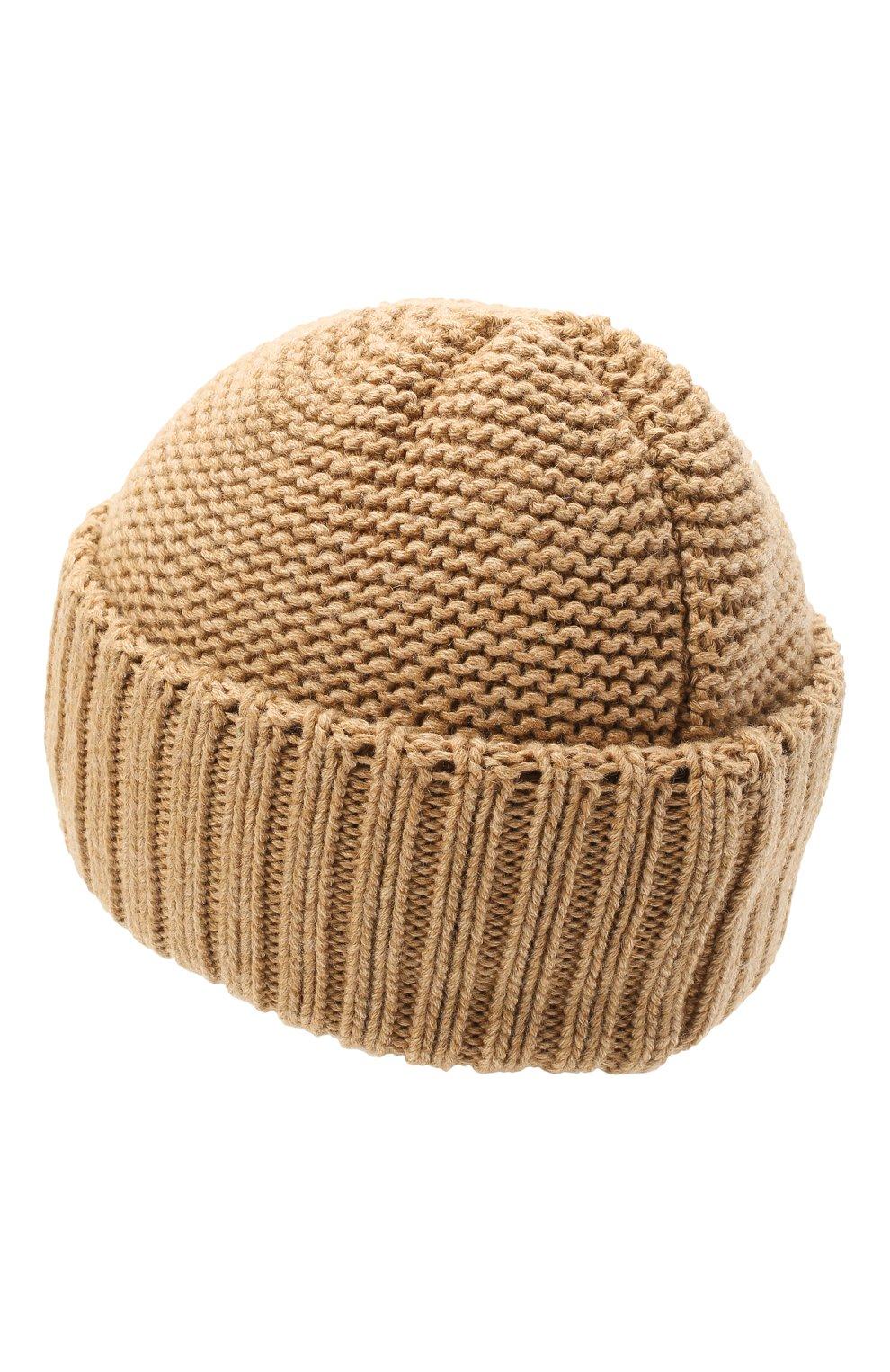 Женская шапка BILANCIONI бежевого цвета, арт. 4901CM   Фото 2 (Материал: Текстиль, Шерсть, Вискоза)