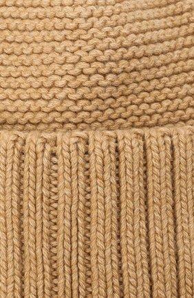 Женская шапка BILANCIONI бежевого цвета, арт. 4901CM   Фото 3 (Материал: Текстиль, Шерсть, Вискоза)