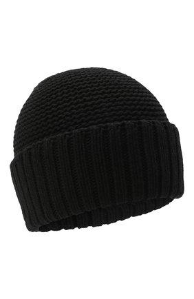 Женская шапка BILANCIONI черного цвета, арт. 4901CM | Фото 1 (Материал: Текстиль, Шерсть, Вискоза)
