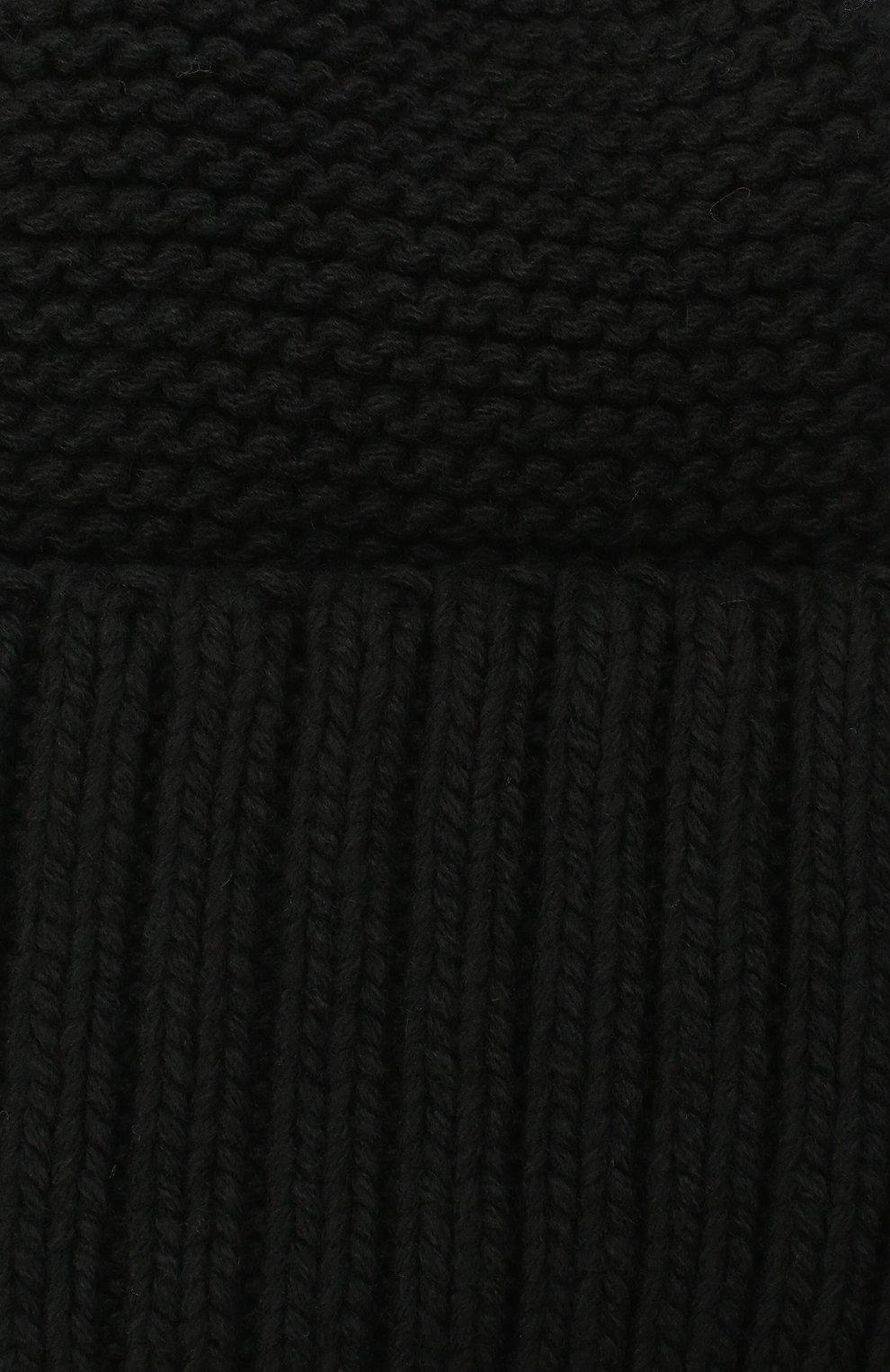 Женская шапка BILANCIONI черного цвета, арт. 4901CM | Фото 3 (Материал: Текстиль, Шерсть, Вискоза)