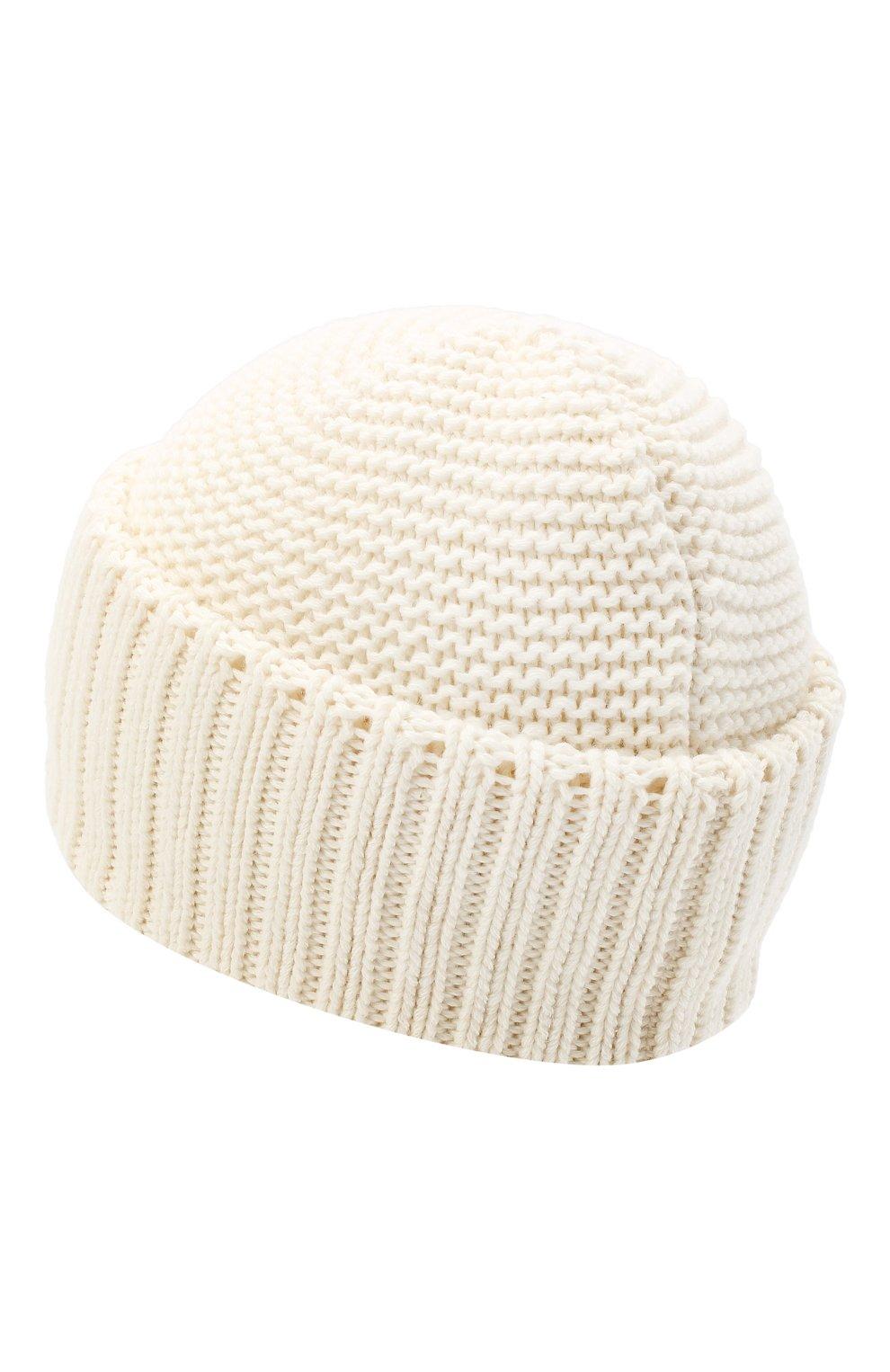 Женская шапка BILANCIONI белого цвета, арт. 4901CM   Фото 2 (Материал: Текстиль, Шерсть, Вискоза)