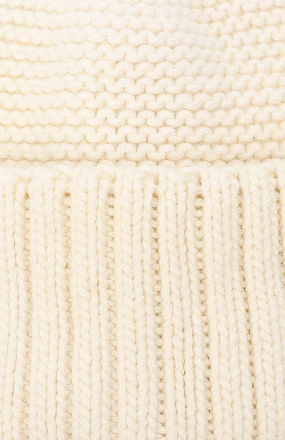 Женская шапка BILANCIONI белого цвета, арт. 4901CM   Фото 3 (Материал: Текстиль, Шерсть, Вискоза)