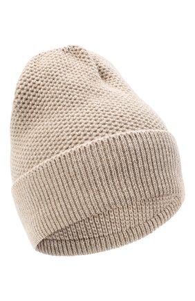Женская шапка BILANCIONI светло-бежевого цвета, арт. 4899CM   Фото 1