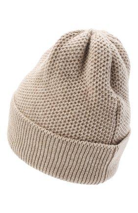 Женская шапка BILANCIONI светло-бежевого цвета, арт. 4899CM   Фото 2