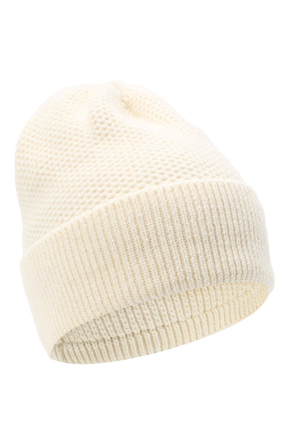 Женская шапка BILANCIONI белого цвета, арт. 4899CM | Фото 1 (Материал: Текстиль, Шерсть, Вискоза)