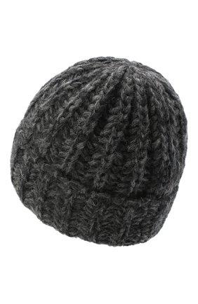 Женская шерстяная шапка BILANCIONI темно-серого цвета, арт. 4898CM   Фото 2 (Материал: Шерсть)