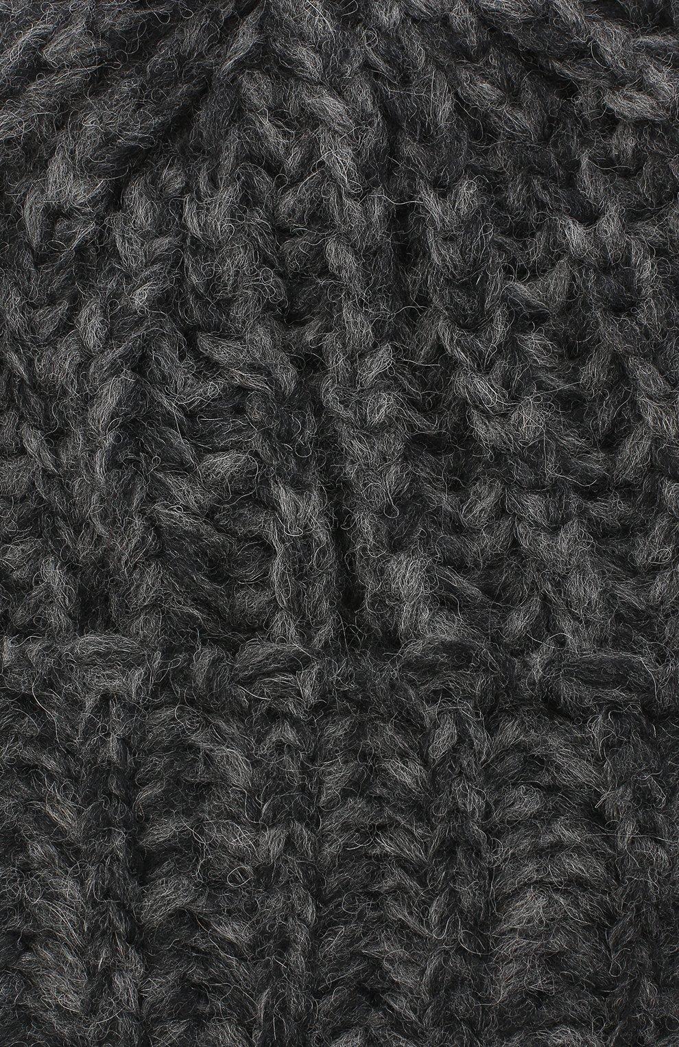 Женская шерстяная шапка BILANCIONI темно-серого цвета, арт. 4898CM   Фото 3 (Материал: Шерсть)