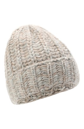 Женская шерстяная шапка BILANCIONI светло-серого цвета, арт. 4898CM   Фото 1