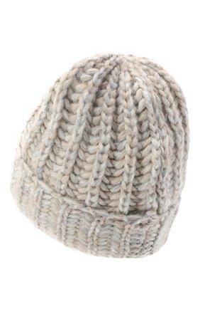 Женская шерстяная шапка BILANCIONI светло-серого цвета, арт. 4898CM   Фото 2