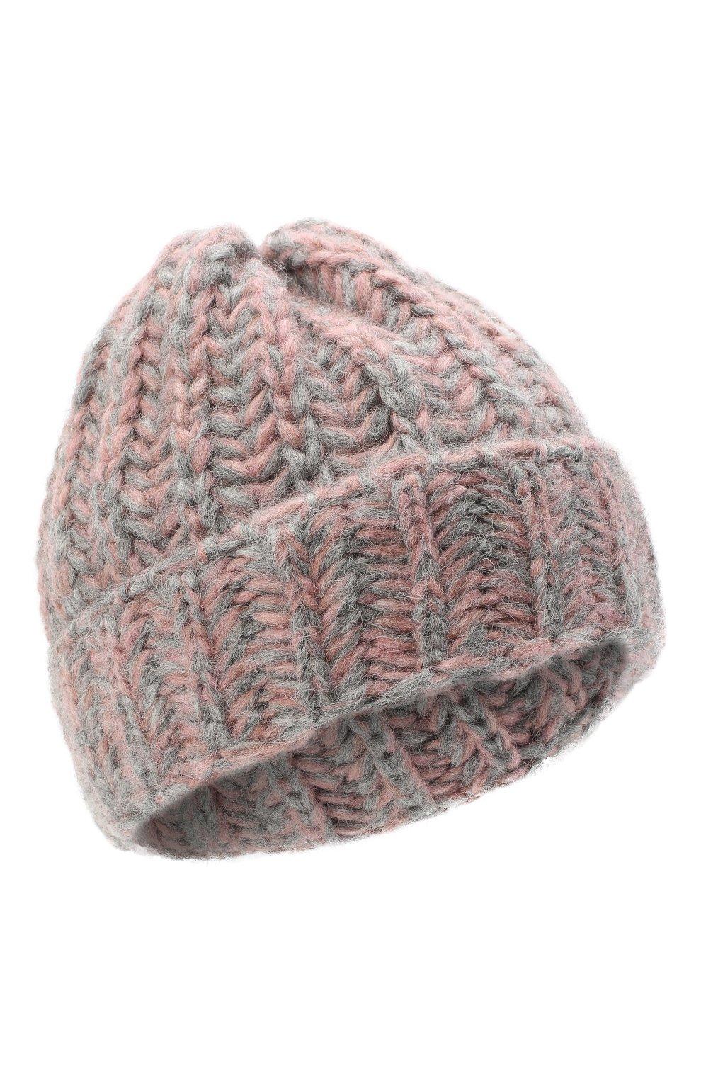 Женская шерстяная шапка BILANCIONI розового цвета, арт. 4898CM | Фото 1 (Материал: Шерсть)