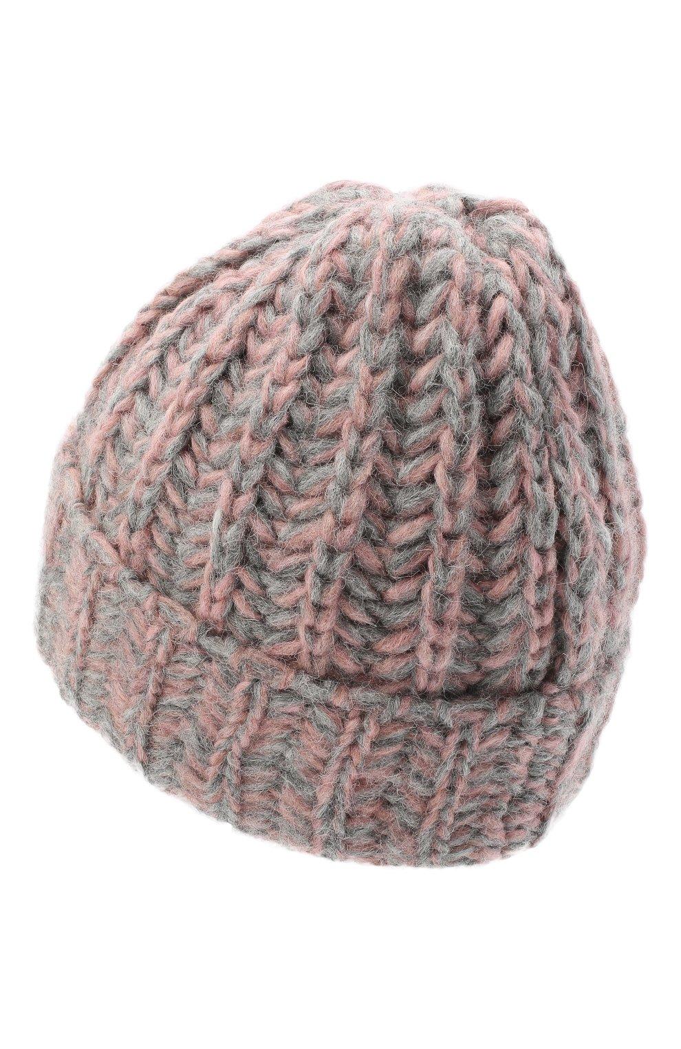 Женская шерстяная шапка BILANCIONI розового цвета, арт. 4898CM | Фото 2 (Материал: Шерсть)