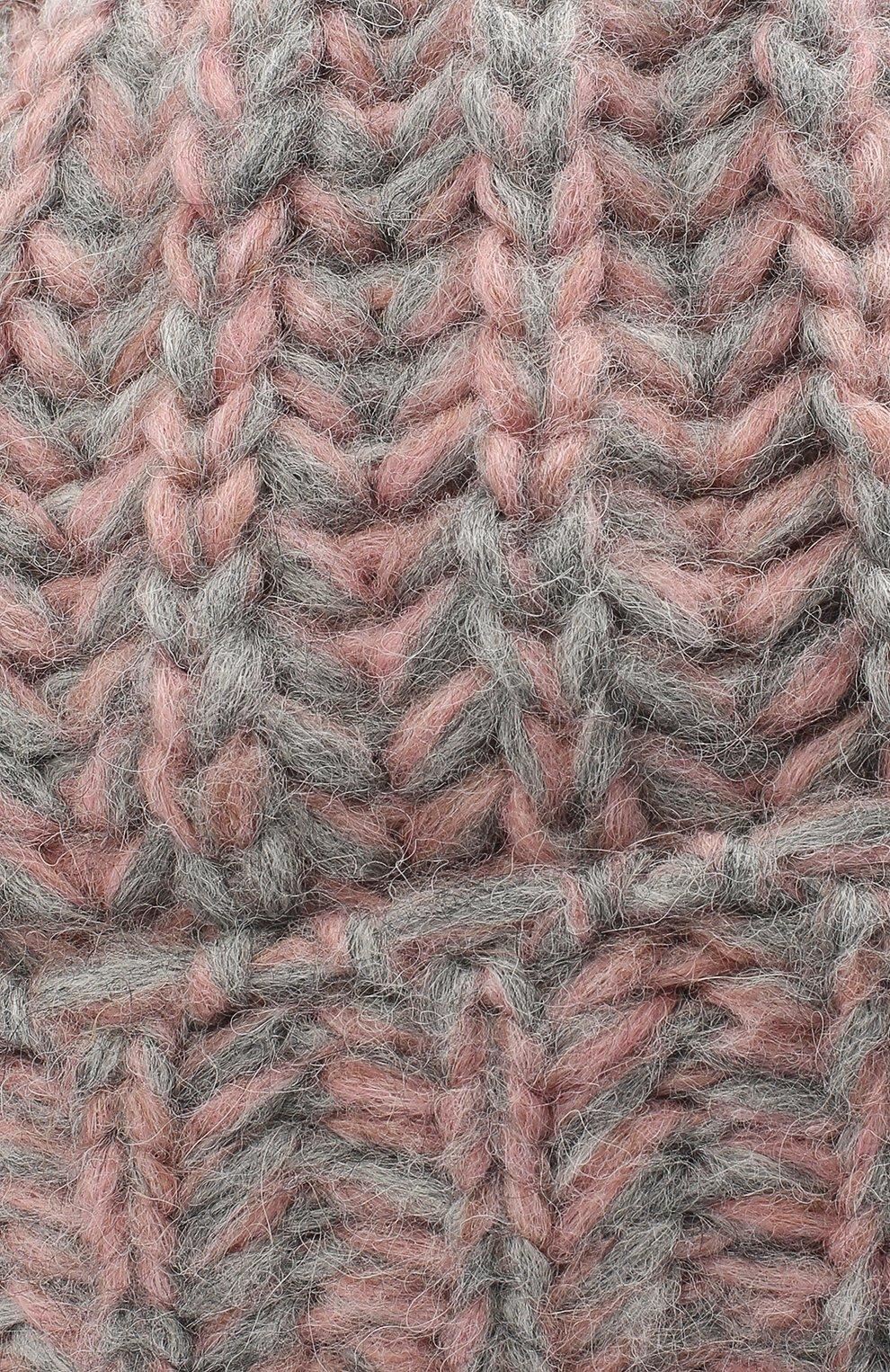 Женская шерстяная шапка BILANCIONI розового цвета, арт. 4898CM | Фото 3 (Материал: Шерсть)