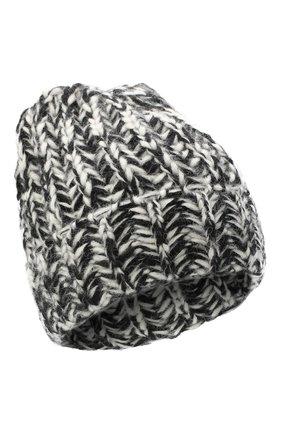 Женская шерстяная шапка BILANCIONI черно-белого цвета, арт. 4898CM | Фото 1