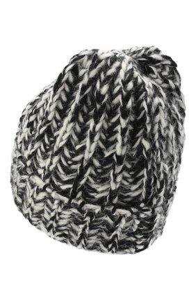 Женская шерстяная шапка BILANCIONI черно-белого цвета, арт. 4898CM   Фото 2