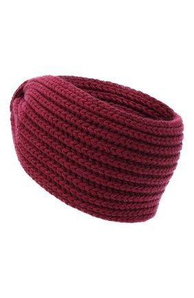 Женская повязка на голову BILANCIONI бордового цвета, арт. 4897FM | Фото 2