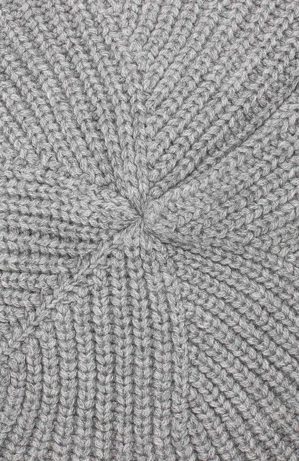 Женский берет BILANCIONI серого цвета, арт. 4896CM   Фото 3 (Материал: Текстиль, Шерсть, Вискоза)