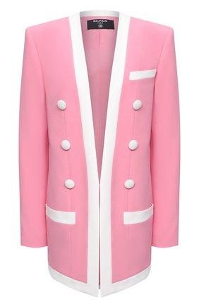 Женский жакет из вискозы BALMAIN розового цвета, арт. VF17576/V089 | Фото 1