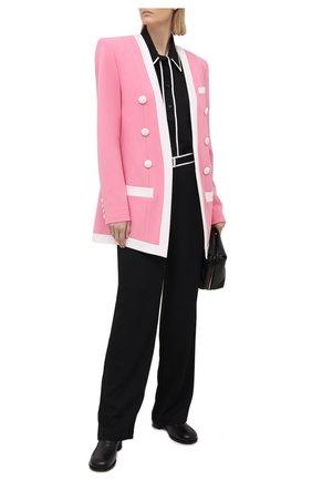 Женский жакет из вискозы BALMAIN розового цвета, арт. VF17576/V089 | Фото 2