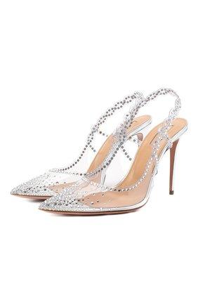 Женские туфли heaven 105 AQUAZZURA серебряного цвета, арт. HEVHIGP0-SPP-CCC | Фото 1