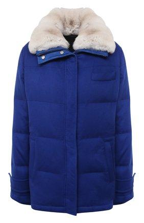 Женская пуховая куртка KITON синего цвета, арт. DW52683K05H99 | Фото 1