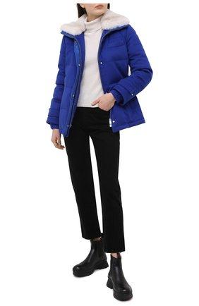 Женская пуховая куртка KITON синего цвета, арт. DW52683K05H99 | Фото 2