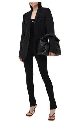 Женские брюки OFF-WHITE черного цвета, арт. 0WCA112R21FAB001   Фото 2