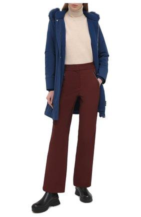 Женские утепленные брюки LORO PIANA бордового цвета, арт. FAL0298 | Фото 2