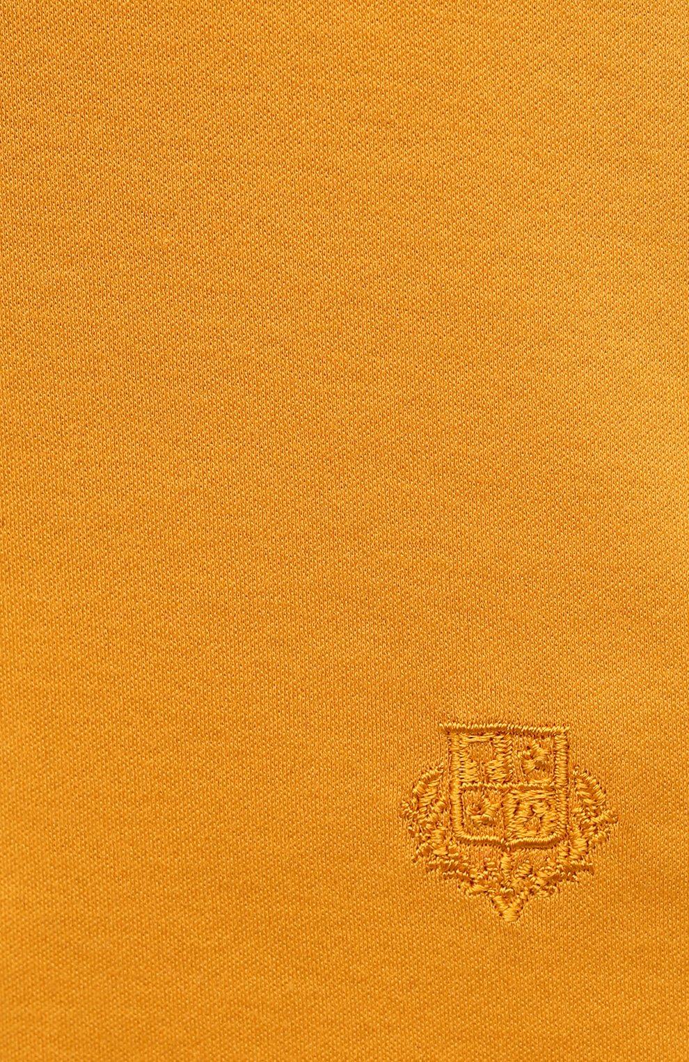 Женская хлопковая футболка LORO PIANA желтого цвета, арт. FAI5069   Фото 5
