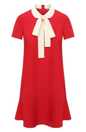 Женское платье REDVALENTINO красного цвета, арт. VR3VAF05/0W7 | Фото 1
