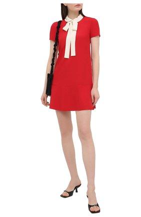 Женское платье REDVALENTINO красного цвета, арт. VR3VAF05/0W7 | Фото 2