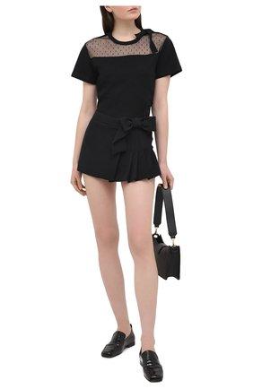 Женская юбка-шорты REDVALENTINO черного цвета, арт. VR3RFE65/2EU | Фото 2