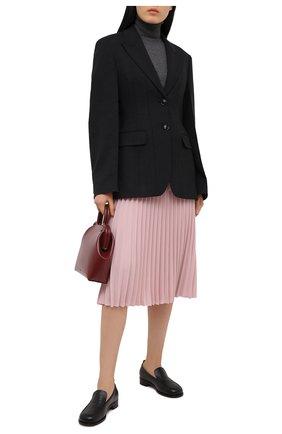 Женская плиссированная юбка REDVALENTINO светло-розового цвета, арт. VR3RAB85/4RA   Фото 2 (Женское Кросс-КТ: Юбка-одежда, юбка-плиссе; Стили: Романтичный; Материал внешний: Синтетический материал; Длина Ж (юбки, платья, шорты): Миди)