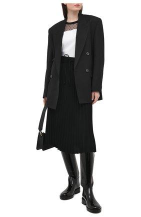 Женская плиссированная юбка REDVALENTINO черного цвета, арт. VR3RAB85/4RA | Фото 2