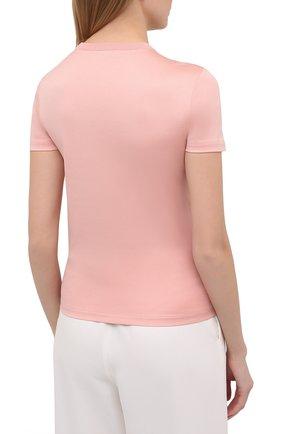 Женская хлопковая футболка LORO PIANA розового цвета, арт. FAI5069   Фото 4