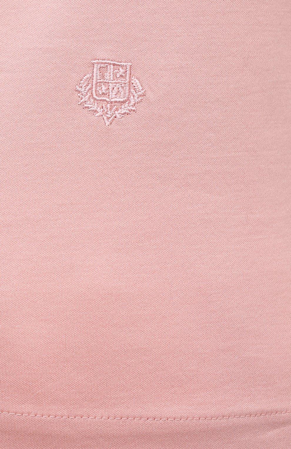 Женская хлопковая футболка LORO PIANA розового цвета, арт. FAI5069   Фото 5