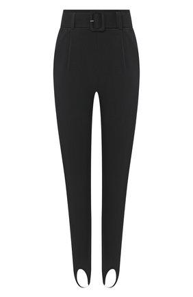 Женские брюки со штрипками SELF-PORTRAIT черного цвета, арт. RS21-063 | Фото 1