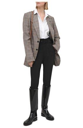 Женские брюки со штрипками SELF-PORTRAIT черного цвета, арт. RS21-063 | Фото 2
