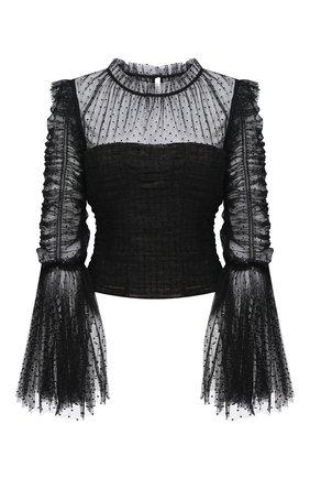 Женская блузка SELF-PORTRAIT черного цвета, арт. RS21-043T | Фото 1