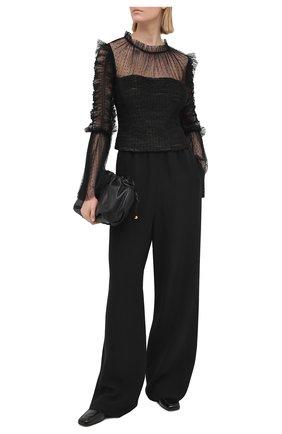 Женская блузка SELF-PORTRAIT черного цвета, арт. RS21-043T | Фото 2