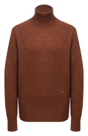 Женский кашемировый свитер VICTORIA BECKHAM коричневого цвета, арт. 1121KJU002325A | Фото 1
