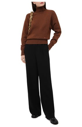 Женский кашемировый свитер VICTORIA BECKHAM коричневого цвета, арт. 1121KJU002325A | Фото 2