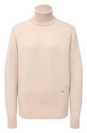 Женский кашемировый свитер VICTORIA BECKHAM бежевого цвета, арт. 1121KJU002325A | Фото 1