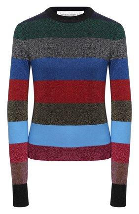 Женский хлопковый пуловер VICTORIA BECKHAM разноцветного цвета, арт. 1121KJU002416B | Фото 1