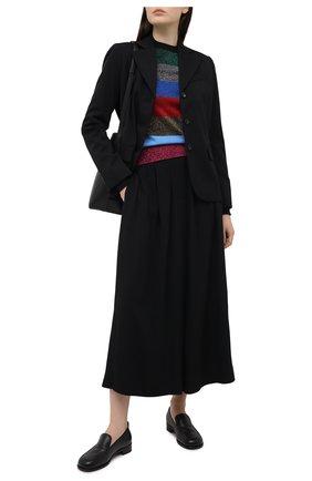 Женский хлопковый пуловер VICTORIA BECKHAM разноцветного цвета, арт. 1121KJU002416B | Фото 2