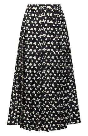 Женская шелковая юбка VICTORIA BECKHAM черного цвета, арт. 1121WSK002569B | Фото 1