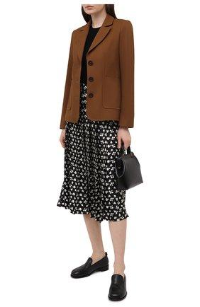 Женская шелковая юбка VICTORIA BECKHAM черного цвета, арт. 1121WSK002569B | Фото 2