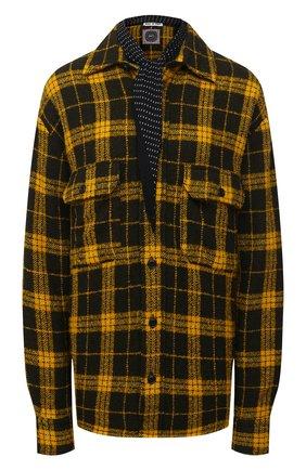 Женская рубашка из шерсти и кашемира DESTIN желтого цвета, арт. D5W0MAT/WESTER C0RNISH FLEECY | Фото 1