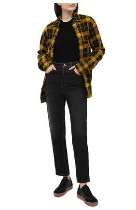 Женская рубашка из шерсти и кашемира DESTIN желтого цвета, арт. D5W0MAT/WESTER C0RNISH FLEECY | Фото 2